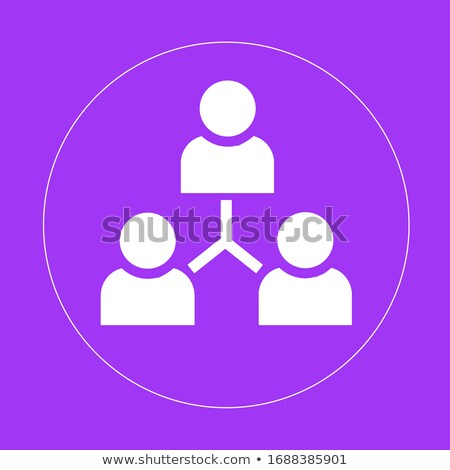 Purple Linear outline Person icon, User icon in circle vector illustration isolated on white backgro Stock photo © kyryloff