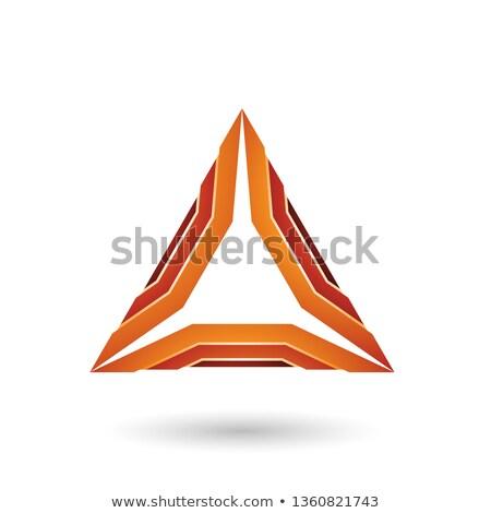 Oranje glanzend monteur driehoek vector illustratie Stockfoto © cidepix