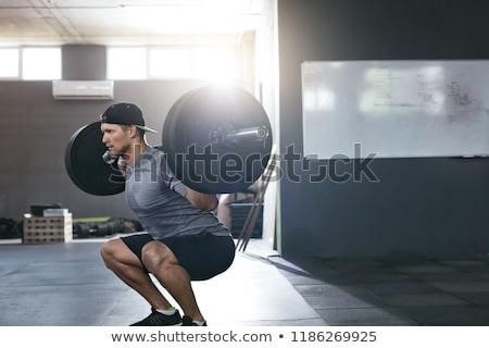 Súlyzó gyönyörű fitt nő sport női Stock fotó © Jasminko