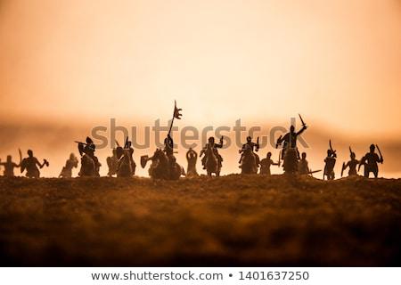 Arciere tramonto illustrazione sport silhouette arma Foto d'archivio © adrenalina