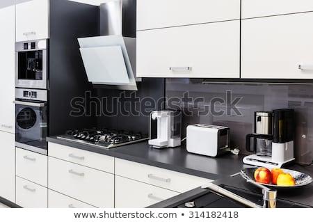 Koffiezetapparaat keuken nieuwe elektrische koffie Stockfoto © AndreyPopov