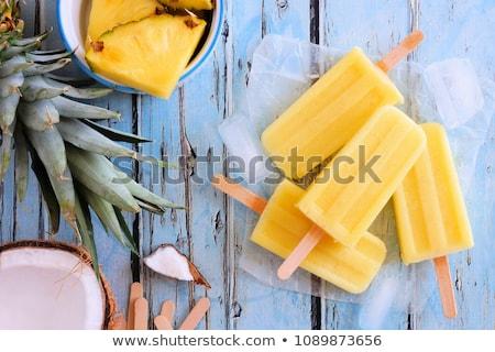 Eigengemaakt ananas kokosnoot turkoois zomer voedsel Stockfoto © Melnyk