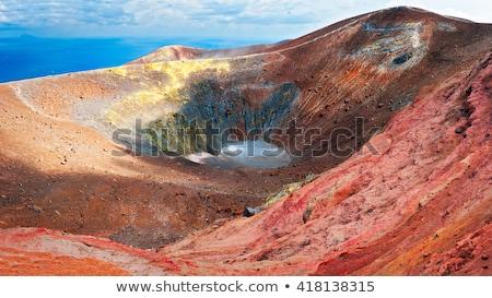 Vulkán sziget Szicília Olaszország panoráma út Stock fotó © furmanphoto