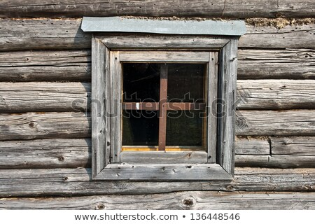 Timber details of wall of old hut Stock photo © lovleah