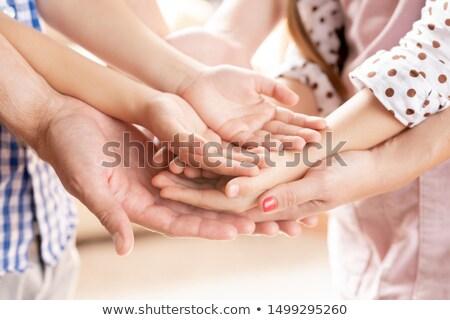 mãe · criança · tocante · palms · mulher · mão - foto stock © pressmaster