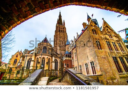 church of our lady bruges belgium stock photo © borisb17