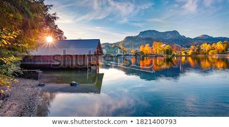 教会 村 オーストリア 表示 自然 庭園 ストックフォト © borisb17