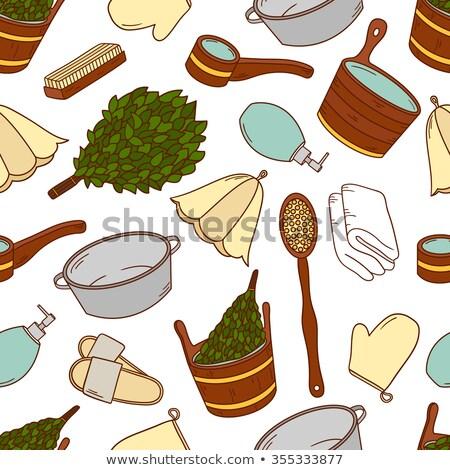 hat for bath or sauna vector illustration Stock photo © konturvid