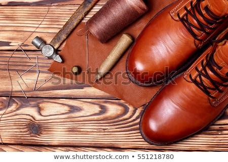 Zwarte oxford schoenen top exemplaar ruimte Stockfoto © Illia