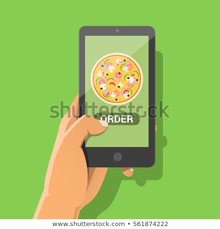 online shopping ordering take out and delivery concept vector illustration stock photo © rastudio