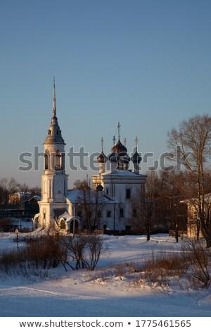 Prezentacji Jezusa kościoła Rosja krajobraz rzeki Zdjęcia stock © borisb17