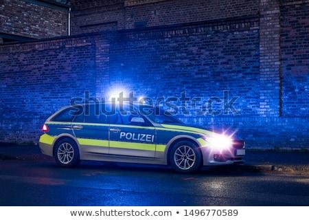 Polizei Auto Detail erschossen Freien Sicherheit Stock foto © AndreyPopov
