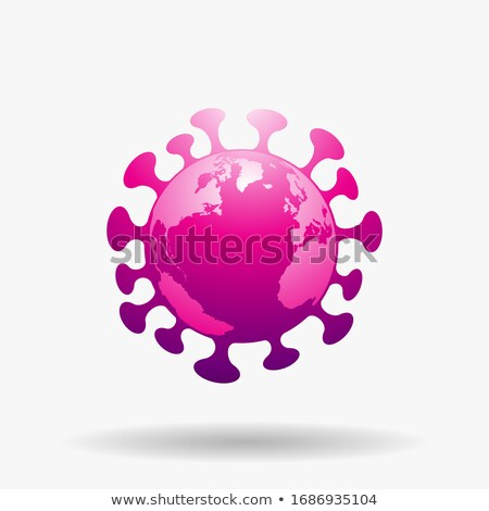 Monde magenta coronavirus icône illustration Photo stock © cidepix