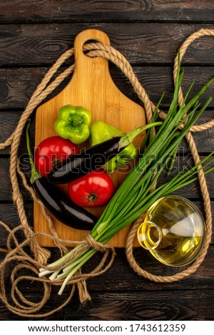 Fresh healthy vegetarian vegetables salad with tomatoes and cucumber, red onion and spinach close up Stock photo © DenisMArt