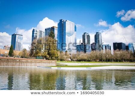 Moderne corporate kantoor wolkenkrabbers stad centrum Stockfoto © Anneleven