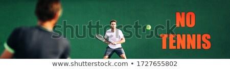 Tennis giocatori giocare giudice segno non Foto d'archivio © Maridav
