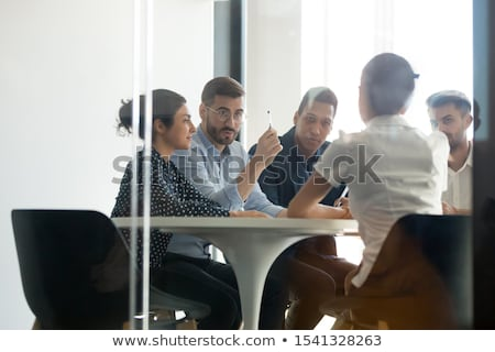 Working Task Boss and Worker Employer and Employee Stock photo © robuart