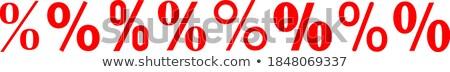 Piros százalék felirat üzlet vásárlás fehér Stock fotó © tashatuvango