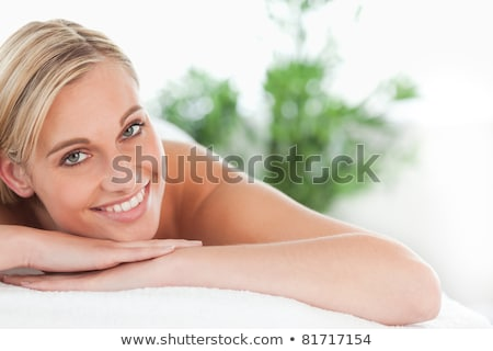 Blonde woman lying on the table Stock photo © photography33