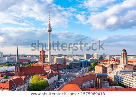 塔 赤 町役場 ベルリン ドイツ 夏 ストックフォト © prill