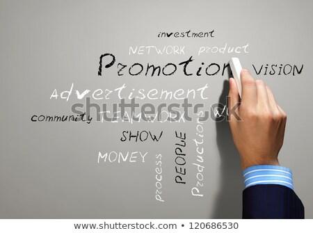 sucesso · palavras · assinar · fundo · nuvem · meta - foto stock © ansonstock