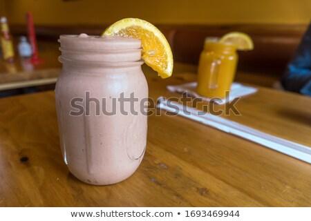 Széles látószögű smoothie felső kilátás shake stúdió Stock fotó © stevemc