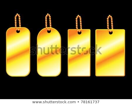 abstract goldan tags set stock photo © pathakdesigner
