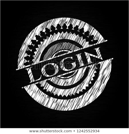 Giriş dizayn kara tahta kullanıcı adı parola yazılı Stok fotoğraf © bbbar