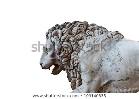 ライオン · 彫刻 · フィレンツェ · 画像 · イタリア · 石 - ストックフォト © angelp