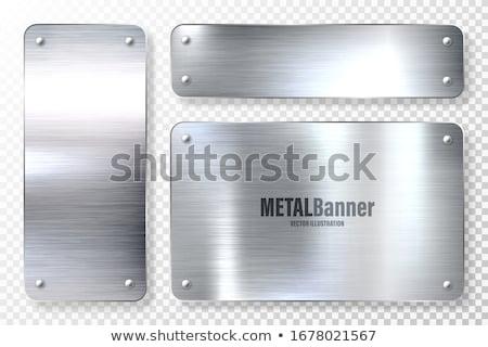 Plaster miodu srebrny metal wzór tekstury tle Zdjęcia stock © emattil