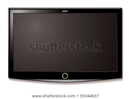 Moderne breedbeeld lcd tv monitor televisie Stockfoto © ozaiachin