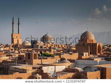 Daken Iran stad gebouwen huizen oude Stockfoto © travelphotography