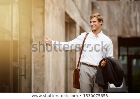 бизнесмен такси человека фон костюм Сток-фото © photography33