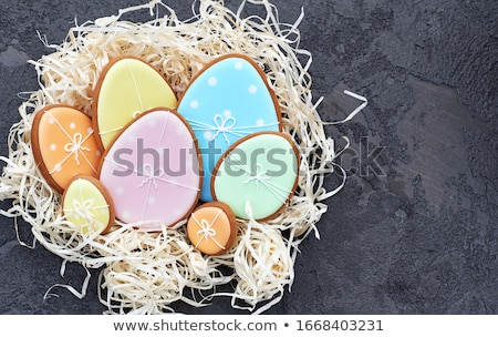 Сток-фото: Easter Gingerbreads And Eggs
