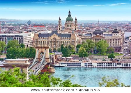 panorámakép · Budapest · Magyarország · napos · idő · víz · folyó - stock fotó © AndreyKr