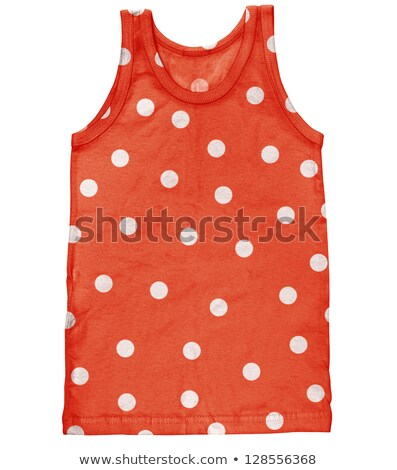 Tank for men with polka dot isolated on white Stock photo © pzaxe