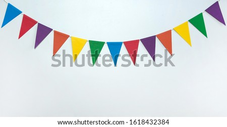 free in multicolored flags stock photo © marinini