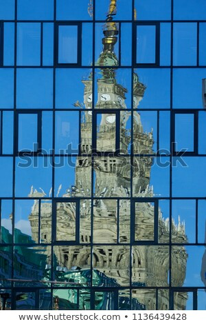 Palace of Culture and Science Abstract Reflection Stock photo © rognar