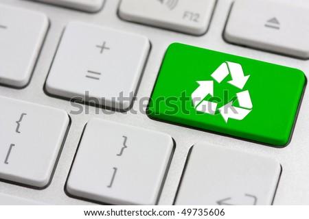 reciclar · assinar · teclado · reciclagem · verde - foto stock © maxmitzu