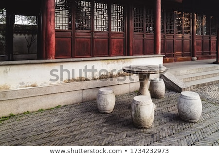 Daken tuin beheerder oude chinese Stockfoto © billperry