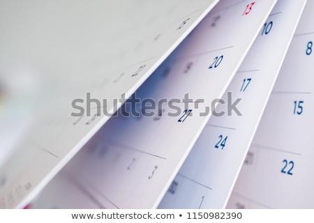 カレンダー 詳細 紙 表 会議 ストックフォト © stevanovicigor