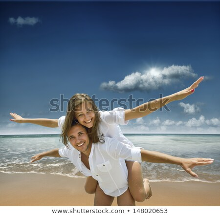 couple of men enjoying the sun Stock photo © photography33