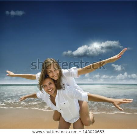 Stock photo: couple of men enjoying the sun