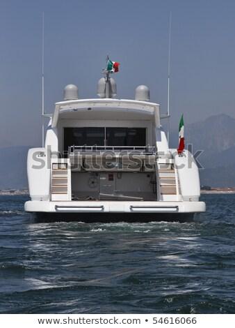 Popa luxo barco para cima céu Foto stock © Discovod
