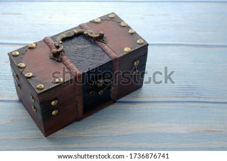 Nyitva varázslatos fából készült láda doboz padló Stock fotó © stevanovicigor