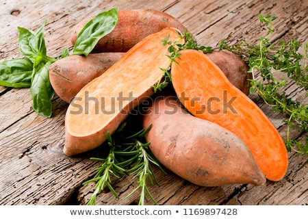 Zoete aardappel kok landbouw zoete geïsoleerd witte achtergrond Stockfoto © M-studio
