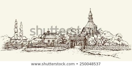 old stone rustic church Stock photo © fotoduki