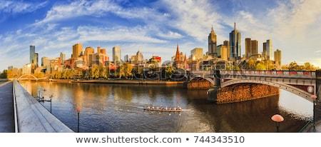 Remo rio Melbourne para baixo Austrália céu Foto stock © THP