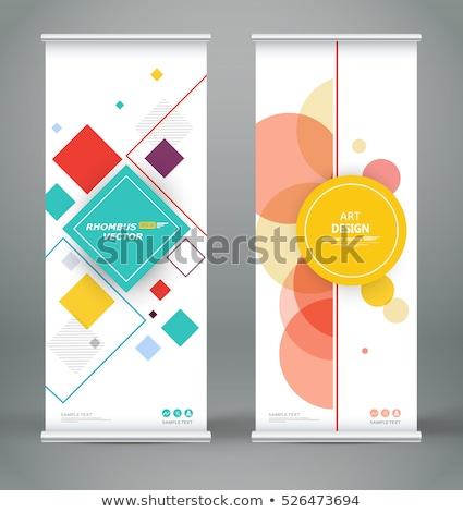 White Rhombus Board Red Banner Stock photo © limbi007