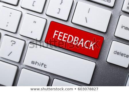 opinião · vermelho · teclado · botão · preto - foto stock © tashatuvango